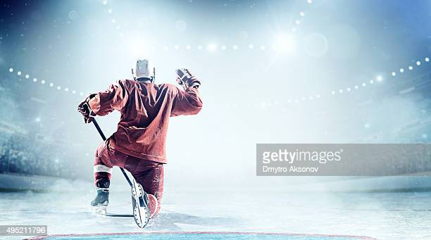 happy ice hockey player - ice hockey player stock pictures, royalty-free photos & images