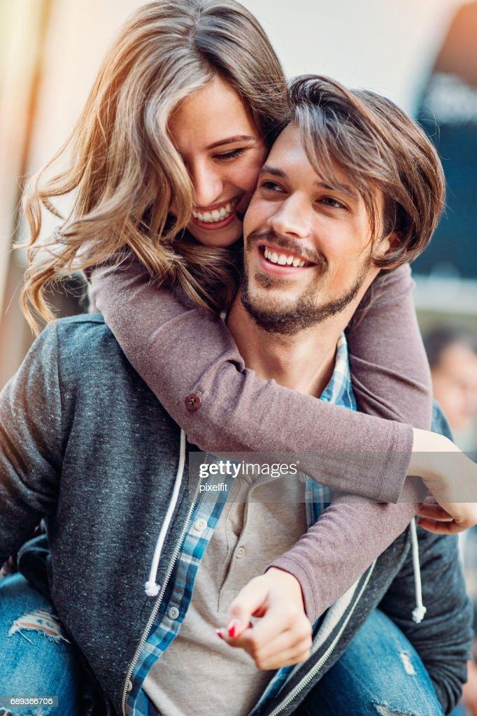 Happy in love : Stock Photo