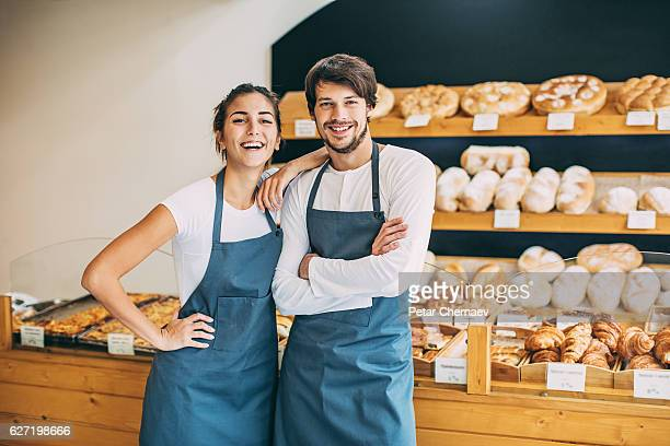 Happy in the bakery