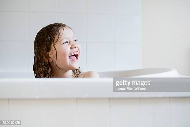 happy in the bath