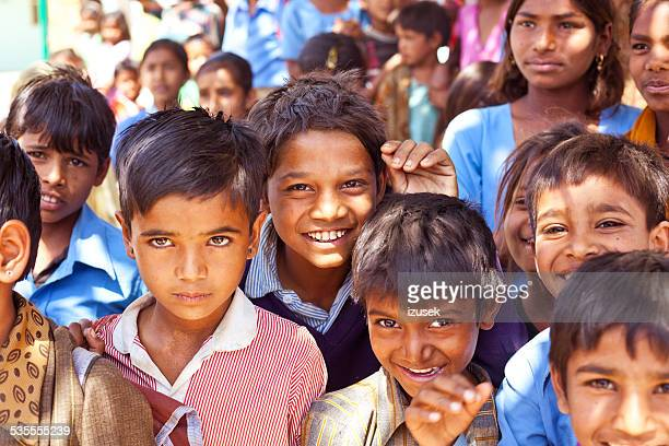 Happy Indian School Children