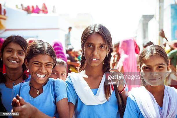 Happy Indian School Girls