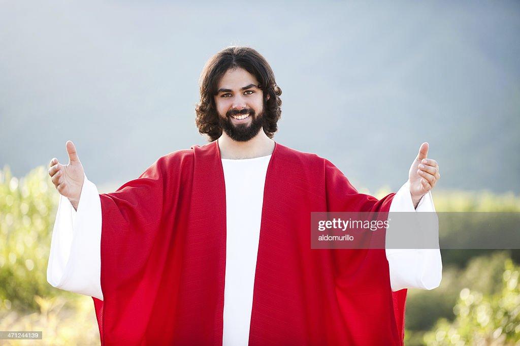 Happy Jesus : Stock Photo