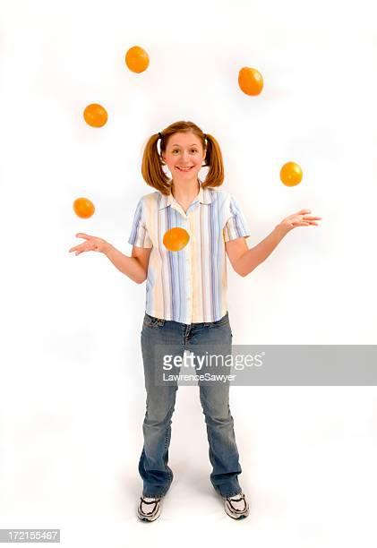 Heureux jongleuse