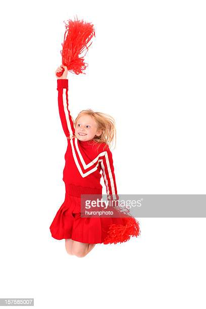 happy jumping cheerleader