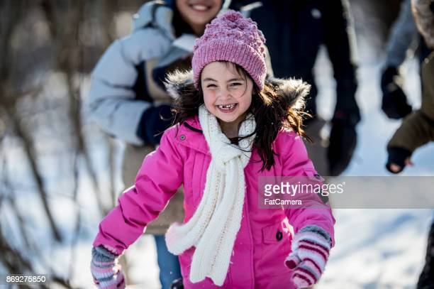 happy kids - mitten stock photos and pictures
