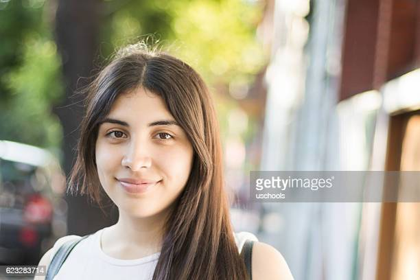 Happy Latina Young Woman