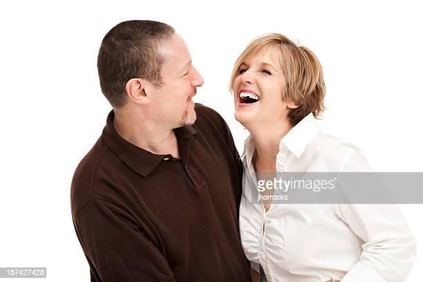 Feliz Riendo pareja madura