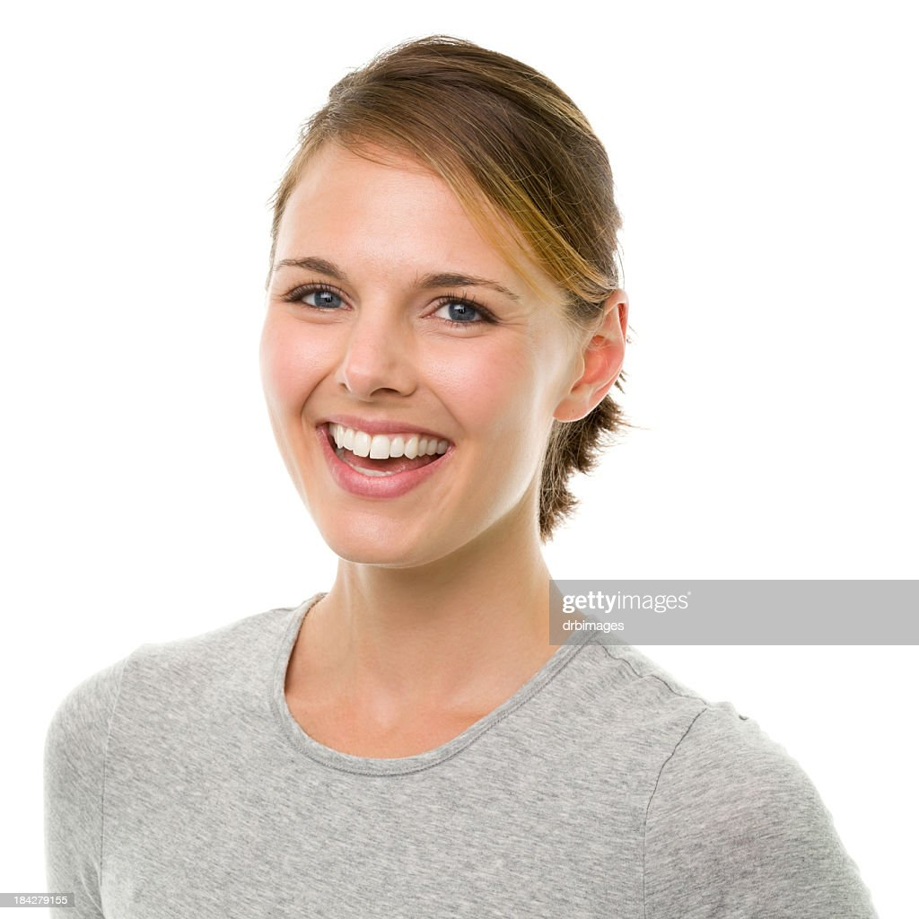 Happy Laughing Young Woman : Stock Photo