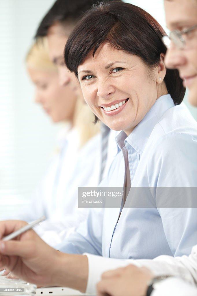 Happy leader : Stock-Foto