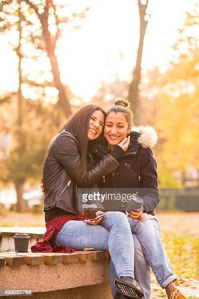 Heureux couple lesbien