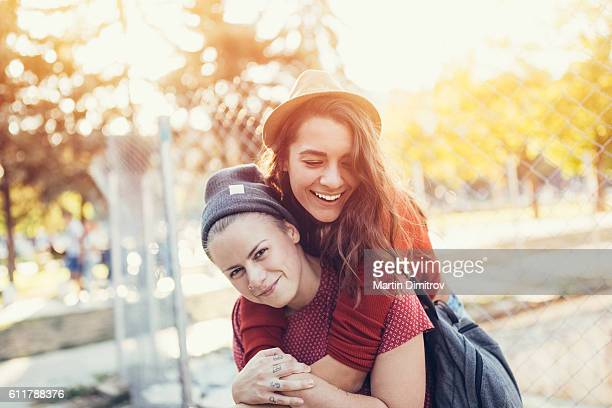 happy lesbian couple - lesbian dating stock pictures, royalty-free photos & images