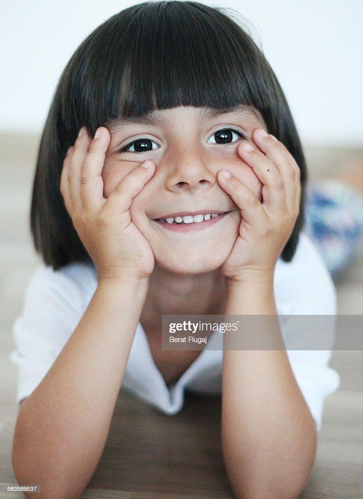 Happy little boy : Stock Photo