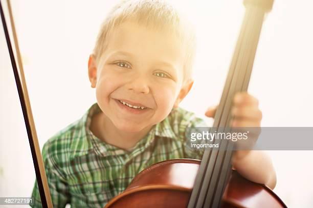 Happy little cellist