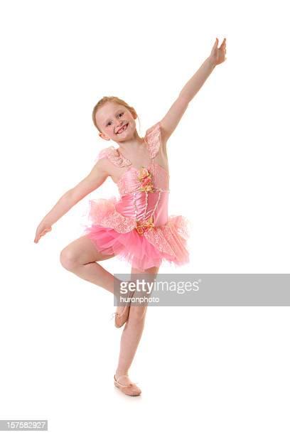 Glückliches kleines Mädchen Tanz