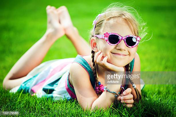 happy little girl - petite young models stock photos and pictures