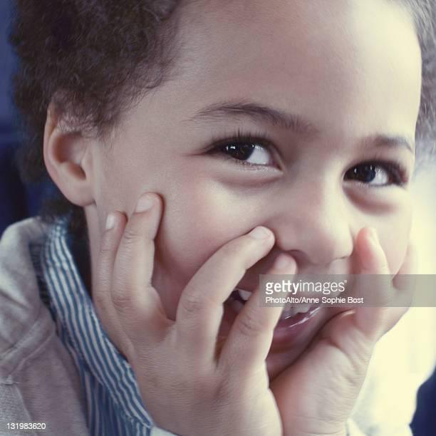 Happy little girl, portrait