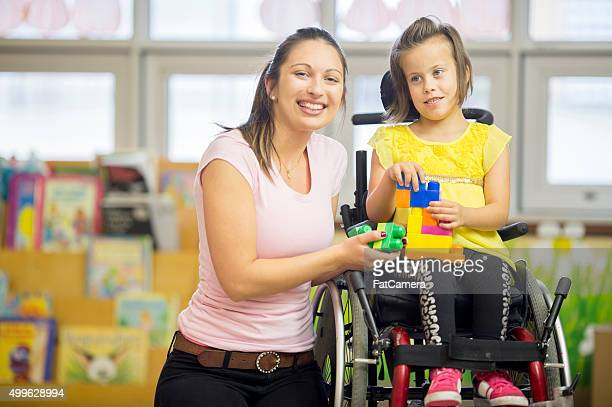 Happy Little Handicap Girl
