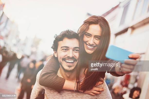 Happy love selfie