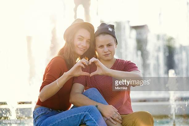 Happy loving couple