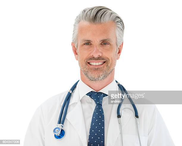 happy male doctor - handsome 50 year old men stock pictures, royalty-free photos & images