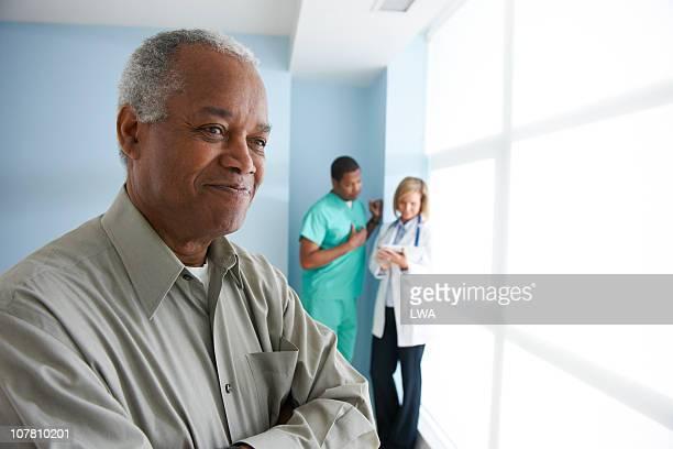 Happy Man At Hospital