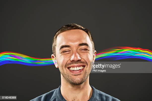 Happy Man Hearing