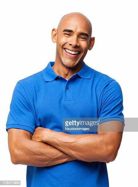 Happy Man In Casual Blue T-shirt - Isolated