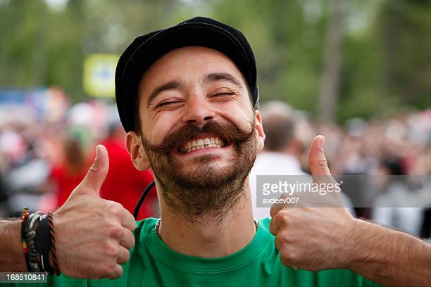 happy man portrait - st patricks day stock pictures, royalty-free photos & images