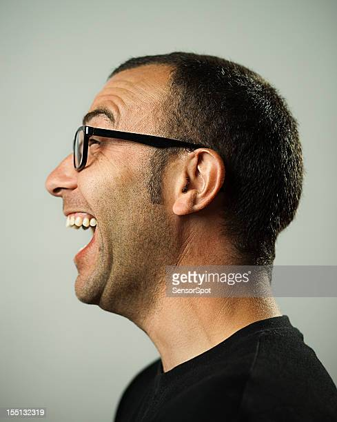 Happy man profile