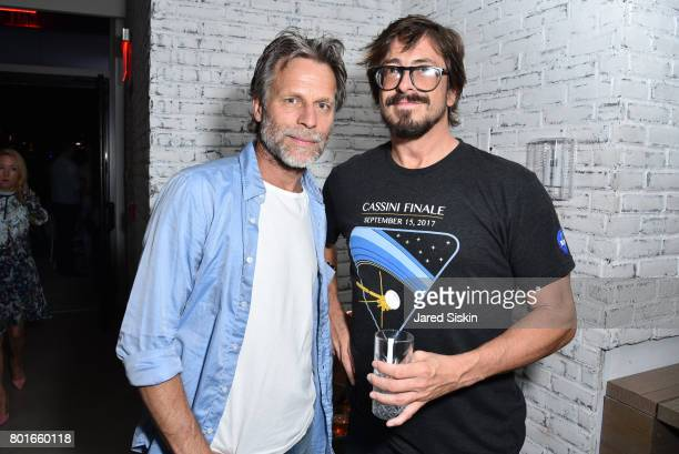 Happy Massee and Eli Morgan Gesner attend TriStar Pictures with The Cinema Society Avion host the after party for 'Baby Driver' at The Crown at Hotel...