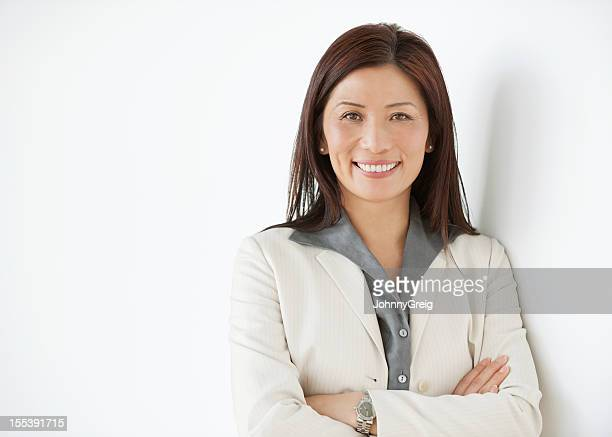 Happy Mature Asian Businesswoman