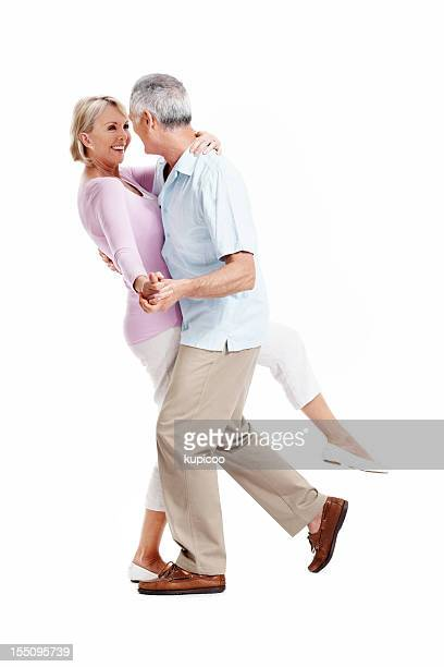 Happy mature couple dancing