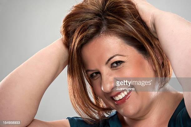 Happy Mature Hispanic Woman (real people)