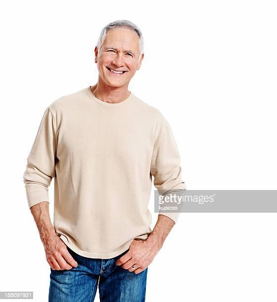 Happy mature man smiling