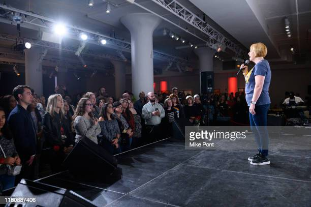 Happy McPartlin performs at Four Roses Bourbon's Broadway Tastes presented by iHeartRadio Broadway hosted by Alex Brightman with special guest Randy...
