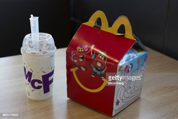 A Happy Meal and McFlurry are arranged for a photograph at a McDonald's Corp fast food restaurant in Phoenix Arizona US on Saturday Oct 21 2017...