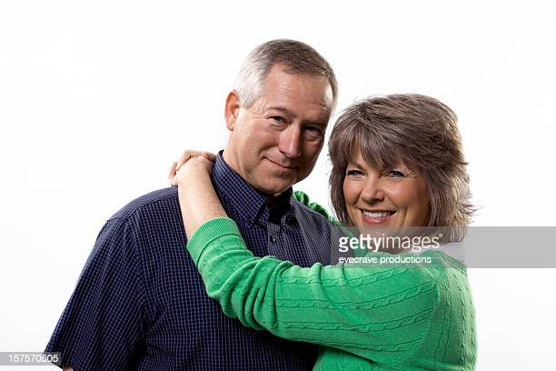 happy middle aged couple