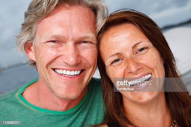 happy middle aged couple - heterosexual couple stock pictures, royalty-free photos & images
