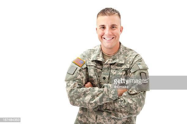 ハッピーなミリタリー男性 - 軍人 ストックフォトと画像