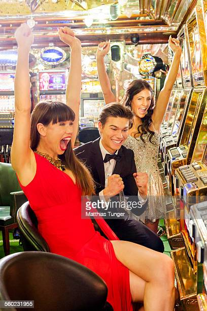 Happy moments in a casino