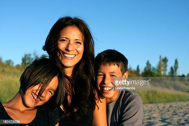 happy mother and children - indigenous culture stock pictures, royalty-free photos & images