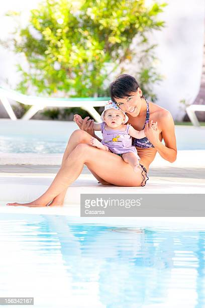 幸せな母と娘