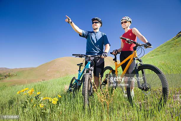 Happy Mountain Biking Couple