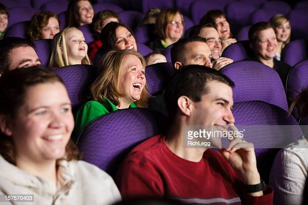 Happy Movie Theater Audience