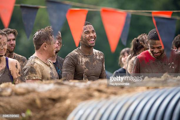 Happy Mudders smiling