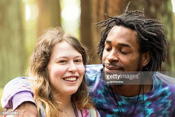 Happy multi ethnic couple