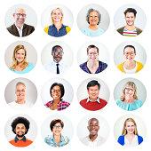 Happy Multiethnic Peoples' Headshot