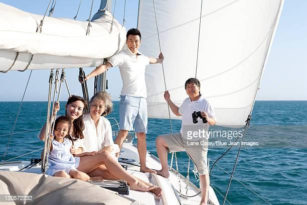Happy Multi-Generation Family