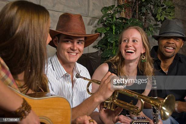 happy musicians - nashville stock pictures, royalty-free photos & images